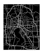 Jacksonville City Map Portrait