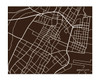 Jersey City Map Print, landscape
