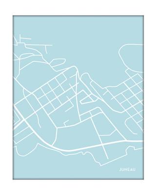 Juneau City Map in Portrait
