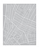 Downtown New York City Map - Portrait