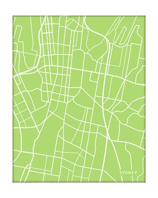 Sydney, Australia city map {portrait}