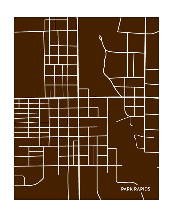 Park rapids minnesota city map for Rustic home decor park rapids mn
