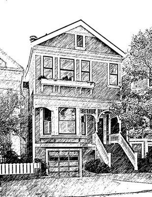 Custom House Sketch made from your photo