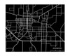 Jonesboro Arkansas City Map in Landscape