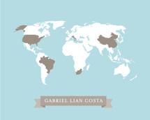 Baby's Heritage World Map
