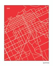 Erie Pennsylvania City Map