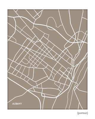 Albany city map print