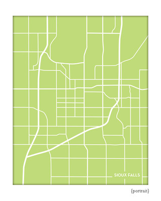 Sioux Falls SD city map print