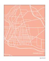 Niagara Falls City Map Art