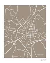 Frederick Maryland city map print