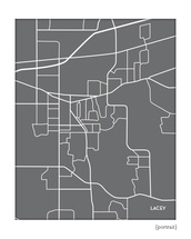 Lacey Washington city map print