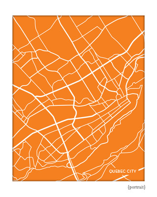 Quebec City Map Art Print