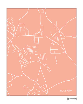 Holbrook Massachusetts city map print