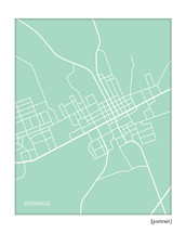 Rockdale Texas city map