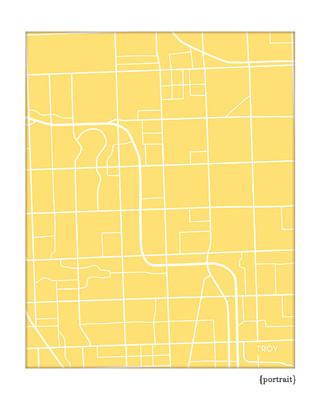 Troy Michigan City Map Art