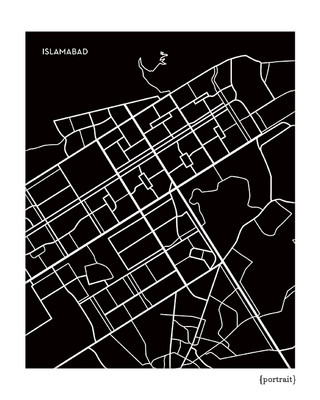 Islamabad Pakistan City Map Print