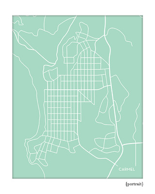 Carmel by the Sea, California city map