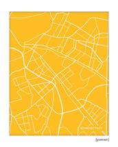 Schenectady New York City Map Print