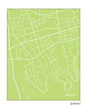 Merrick New York city map print
