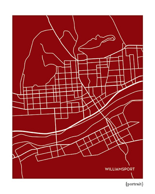 Williamsport PA city map print