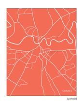 Carlisle England UK City Map