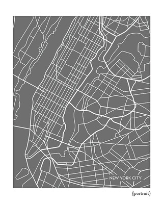 New York City Map Art