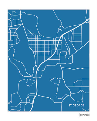 St. George Utah city map