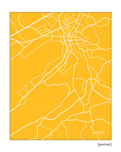 Bristol Tennessee City Map art print