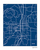 Bend Oregon city map art