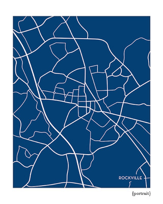 Rockville Maryland City Map Print