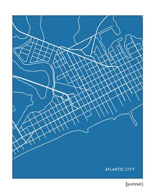 Atlantic City NJ map