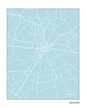 Harare Zimbabwe city map