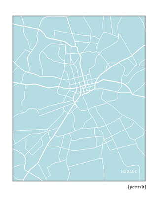 Harare Zimbabwe city map