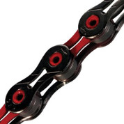KMC X10SL Red/Black Special Edition Diamond Like Coating 10 Speed Chain