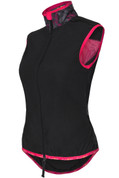 Funkier Cobina Ladies Windbreaker Gilet | Black/Pink | WV-1511