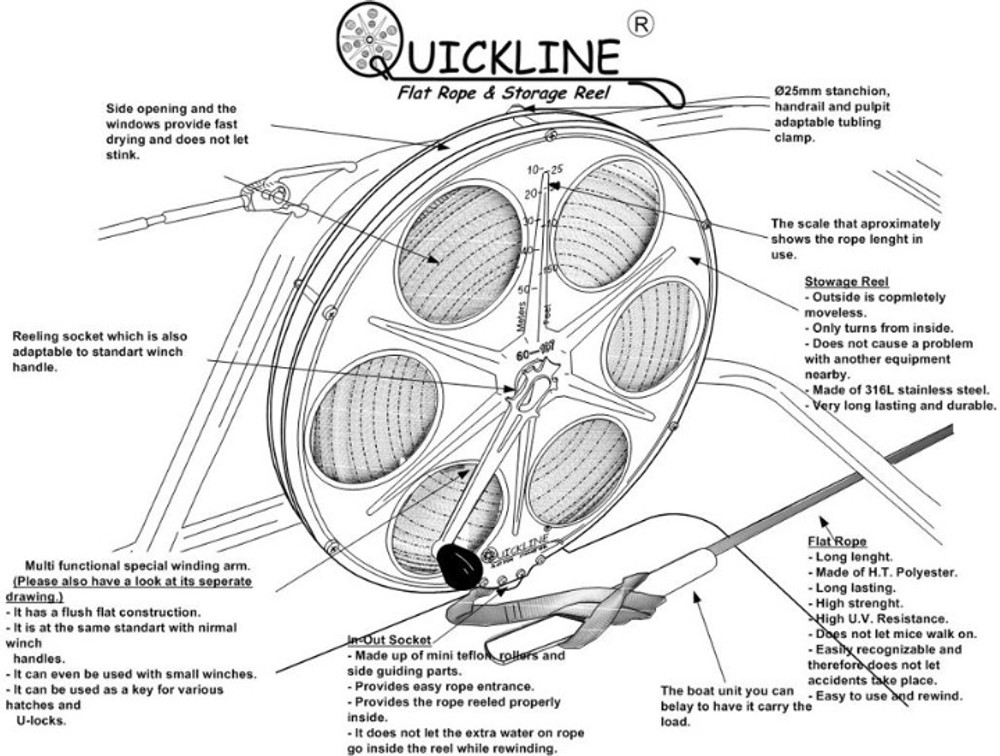 Ultra Quickline Flat Rope Storage Reel