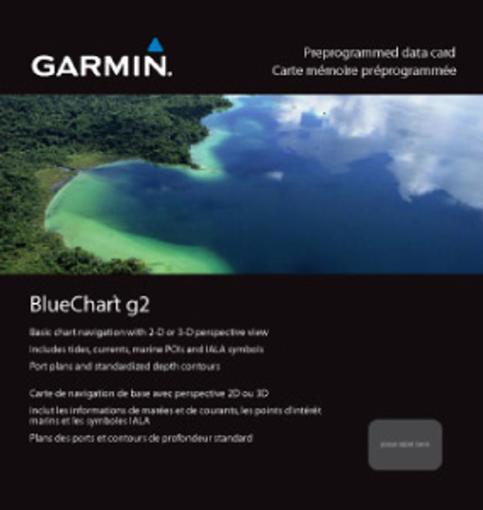 Garmin BlueChart g2 Micro SD with SD Card Adaptor HAE005R Phillippines-Java-Mariana Islands