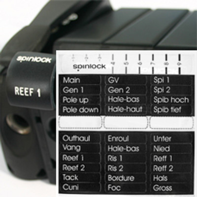 Spinlock Clutch Handle Labels