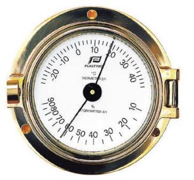"Plastimo 3"" Thermometer-Hygrometer Hinged"