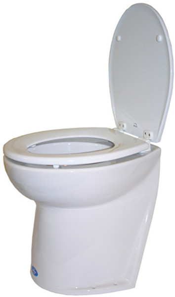 RWB Jabsco Deluxe Silent Flush Electric Toilets - Slanted Back Fresh Water Rinse