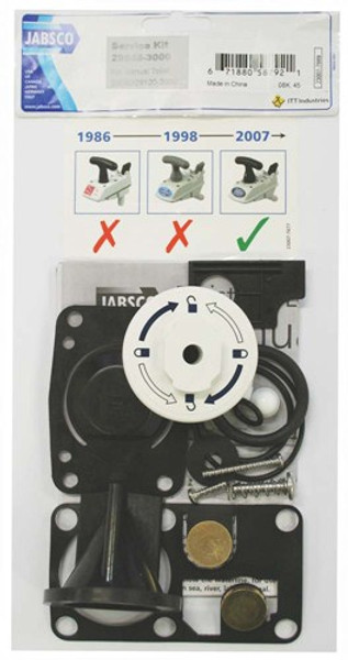 RWB Jabsco Spare Parts & Service Kits for Deluxe Silent Flush Toilets