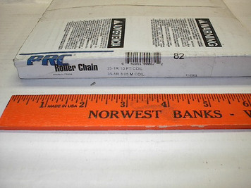 #35 10' Roller Chain Drives Inc. PRC w/connector link, Import 35R