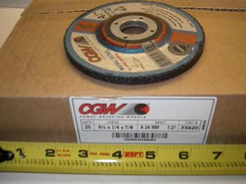 "4.5""x1/4""x7/8"" Grind Wheel A24-R-BF, 13,300 rpm $1.49"