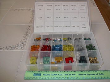 300pc Fuse Assortment, Blade, Mini & Maxi Barrel Fuses