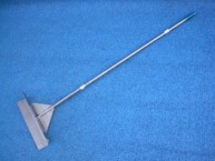 "Brooms, Scrapers: B-12, 18"" Stainless Steel Push Pull, Barn Alley Scraper. Thorp,"
