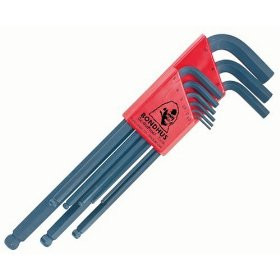 Bondhus 10999 Set of 9 Balldriver L-wrenches, sizes 1.5-10mm