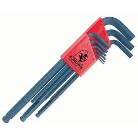 Bondhus 10999 Set of 9 Balldriver L-wrenches, sizes 1.5-10mm