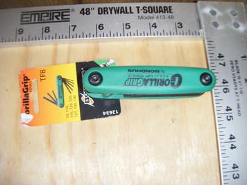 Bondhus 12634 8pc GorillaGrip Star Fold-up Keys T9-T40