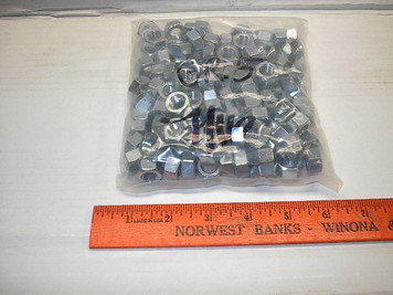 "Grade 5 Nuts, 3 lb Bags 1/4"" to 3/4"" NC Zinc Plated"