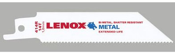 414R/418R/242R Lenox Metal Cutting Reciprocating Saw Blade, 4x3/4x.035, 14 or 18 or 24tpi, 5 pk